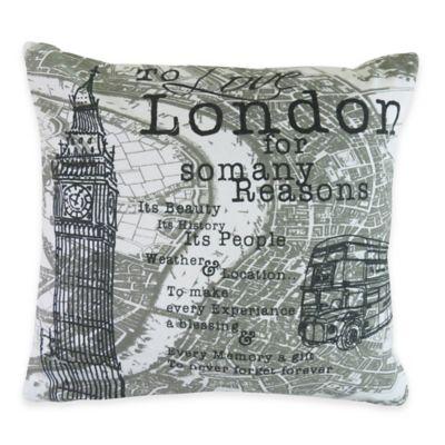 Park B. Smith® The Vintage House London Square Throw Pillow