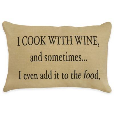 "Park B. Smith® ""Cook With Wine"" Oblong Throw Pillow"