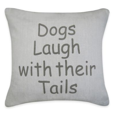 Park B. Smith® The Vintage House Dogs Laugh Square Throw Pillow in Grey