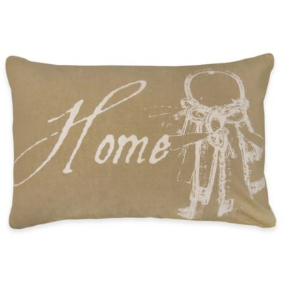 Park B. Smith® The Vintage House Home Key Oblong Throw Pillow in Linen/White
