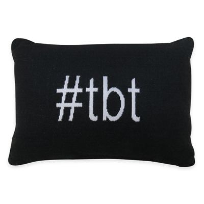 """Park B. Smith® The Vintage House """"#tbt"""" Oblong Throw Pillow in Black/White"""