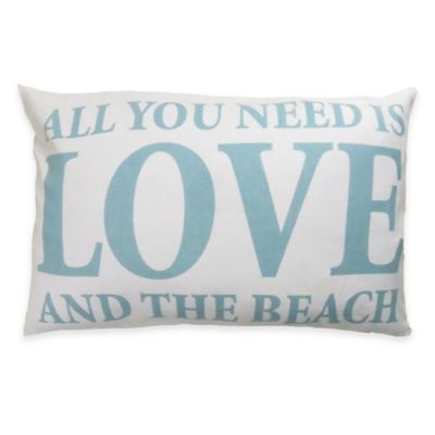 Park B. Smith® The Vintage House Love and the Beach Oblong Throw Pillow in White