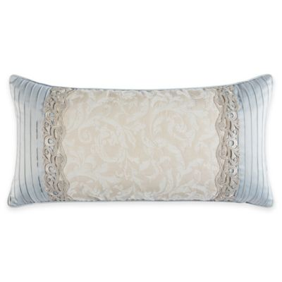 Croscill Couture® Rowling Jacquard Oblong Throw Pillow in Ivory/Platinum