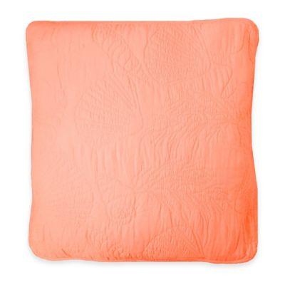 Ocean View European Pillow Sham in Coral