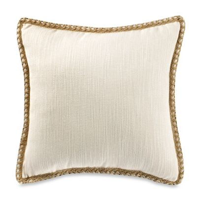 Maui Ivory 20-Inch Square Throw Pillow in Blue