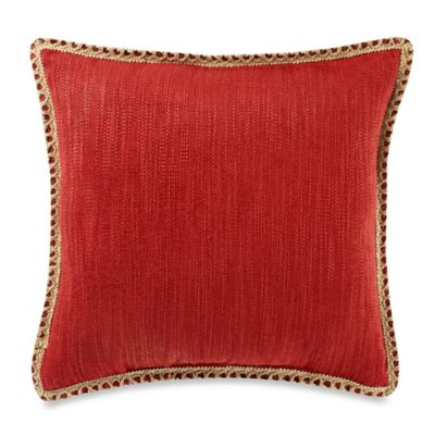 Maui Ivory 20-Inch Square Throw Pillow in Red