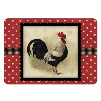 The Softer Side by Weather Guard™ 18-Inch x 27-Inch Speckled Rooster Kitchen Mat