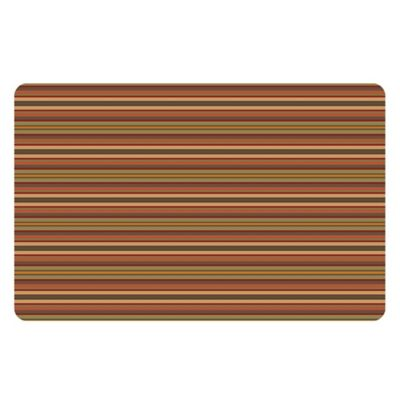 The Softer Side by Weather Guard™ 25-Inch x 60-Inch Tanson Stripe Kitchen Mat in Orange