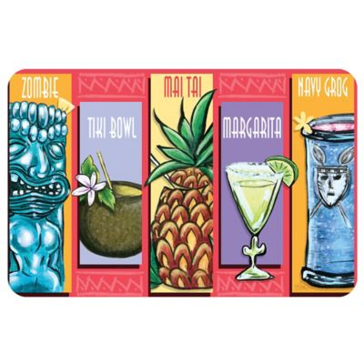 The Softer Side by Weather Guard™ 23-Inch x 36-Inch Tiki Drinks Kitchen Mat