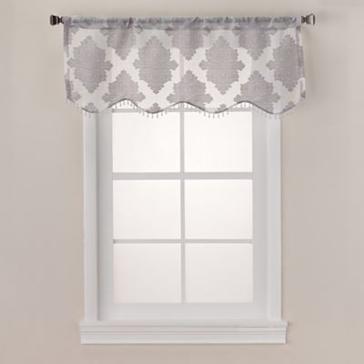 Felicity Scalloped Sheer Window Valance in White