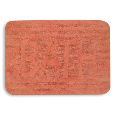 Park B. Smith Natural Bath Rug in Papaya Punch