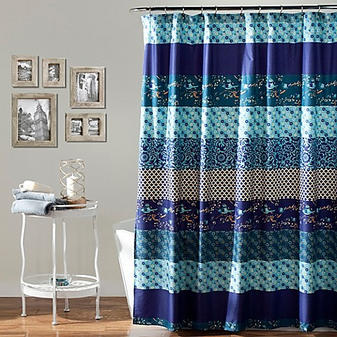 royal empire contemporary shower curtain in peacock bed. Black Bedroom Furniture Sets. Home Design Ideas