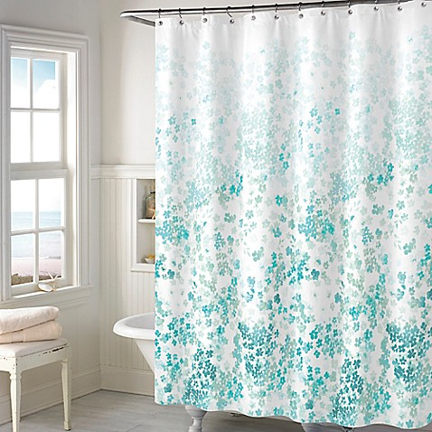 Buy Kimberly Floral Shower Curtain In Teal From Bed Bath
