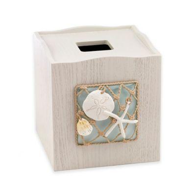 Avanti Sea Glass Boutique Tissue Box Cover