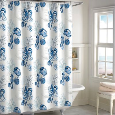 Octopus Shower Curtian in Blue