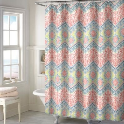 Shower Curtains With Coral