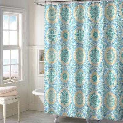 Bryson Shower Curtain in Teal