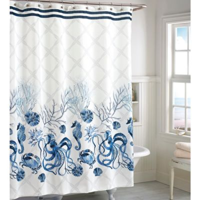 Octavia Shower Curtain in Blue