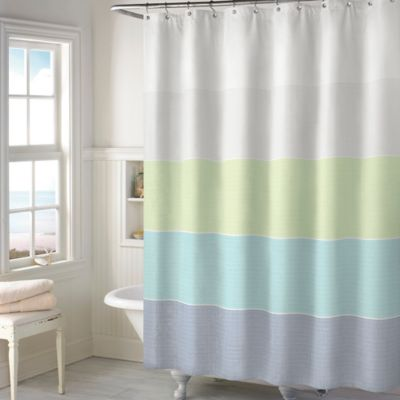 Austin Shower Curtain in Aqua