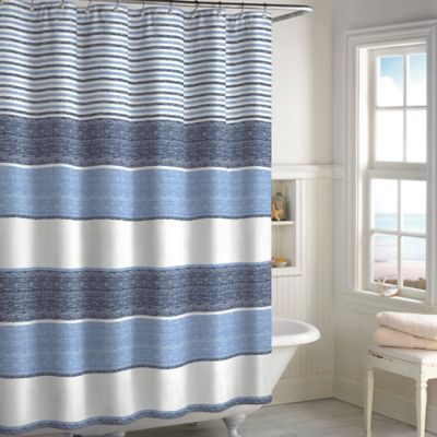 Marina Woven Stripe Shower Curtain