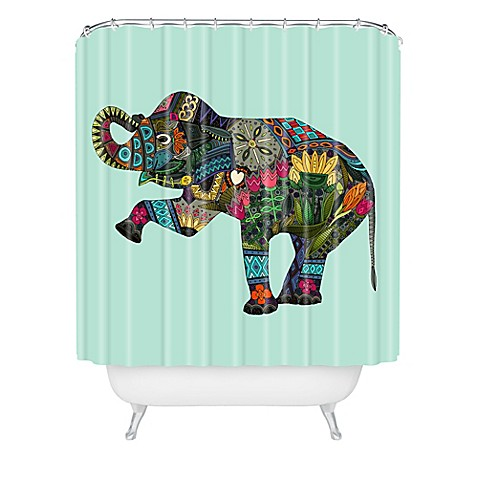 Deny designs sharon turner asian elephant shower curtain Nature inspired shower curtains