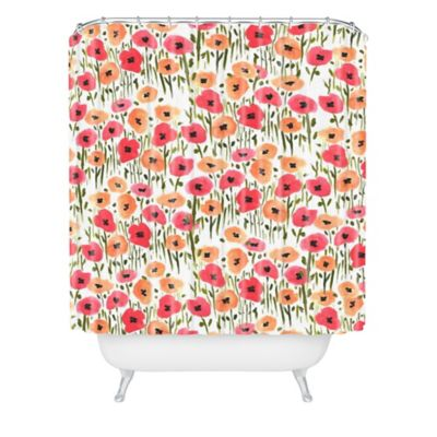 DENY Designs Bouffants and Broken Hearts Garden Shower Curtain