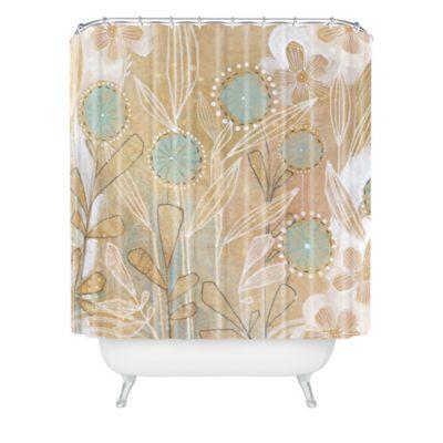 DENY Designs Cori Dantini Flower Shower Curtain in Blue