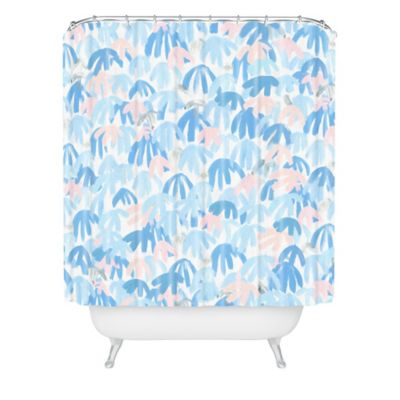 DENY Designs Dash and Ash Royal Palms Shower Curtain in Blue