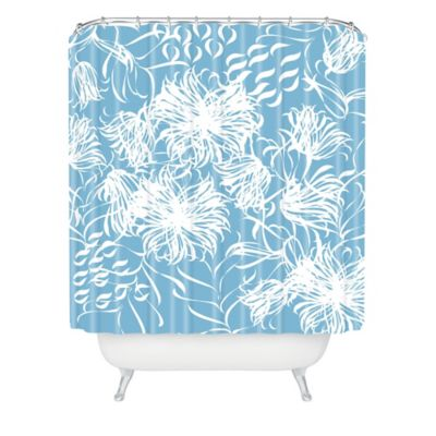 DENY Designs Vy La Cool Breezy Shower Curtain in Blue