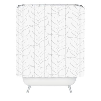 DENY Designs Vy La Cool Breezy Fern Shower Curtain in Grey