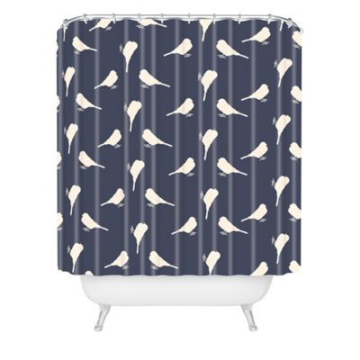 Navy Curtains