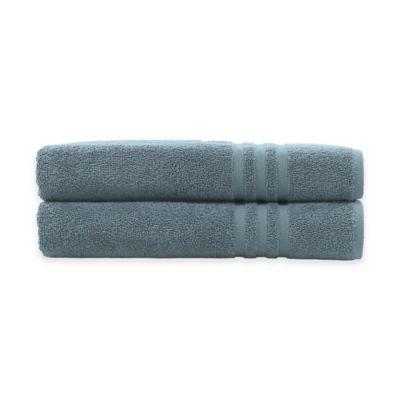 Linum Home Textiles Denzi Bath Towels in Denzi Blue (Set of 2)
