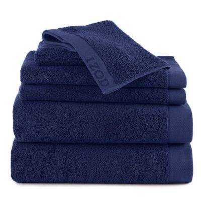 Izod® Classic Egyptian Cotton 6-Piece Towel Set in Stone Green