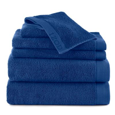 Izod® Classic Egyptian Cotton 6-Piece Towel Set in Bright Blue