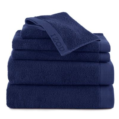 Izod® Classic Egyptian Cotton 6-Piece Towel Set in Dark Blue