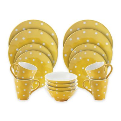 Maxwell & Williams™ Sprinkle 16-Piece Dinnerware Set in Yellow