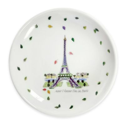 Boston International Olive Branch Eiffel Tower Dipping Dish