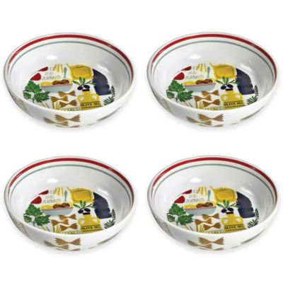Boston International Antipasto Pasta Bowls (Set of 4)