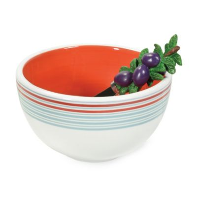 Boston International Antipasto Bowl and Spreader