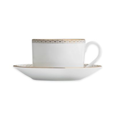 Waterford® Lismore Diamond Gold Teacup and Saucer