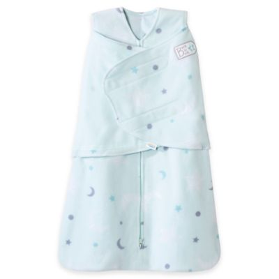 HALO® SleepSack® Newborn Stars 3-Way Adjustable Fleece Swaddle in Mint