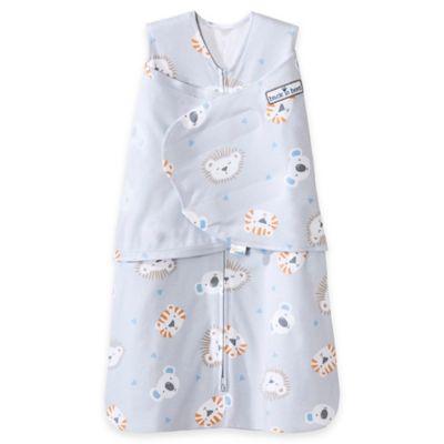 HALO® SleepSack® Newborn Lions, Tigers, Bears 2-in-1 Adjustable Swaddle in Grey