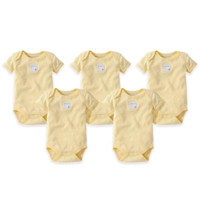 Burt's Bees Baby® Size 3M 5-Pack Organic Cotton Short Sleeve Bodysuit in Sunshine