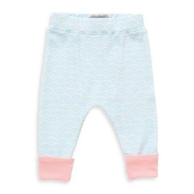 Rockin' Baby Size 0-3M Wave Print Legging in Light Blue