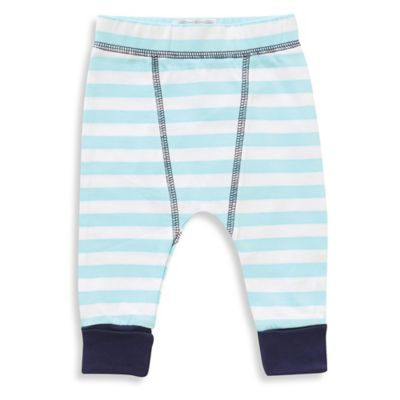 Rockin' Baby Size 3-6M Striped Legging in Light Blue/White