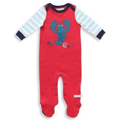 Rockin' Baby Newborn Lobster Applique Footie in Red