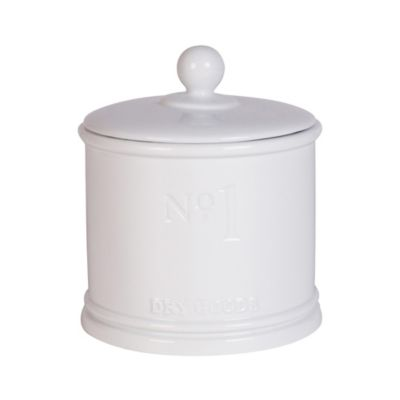 White Numbers Canister