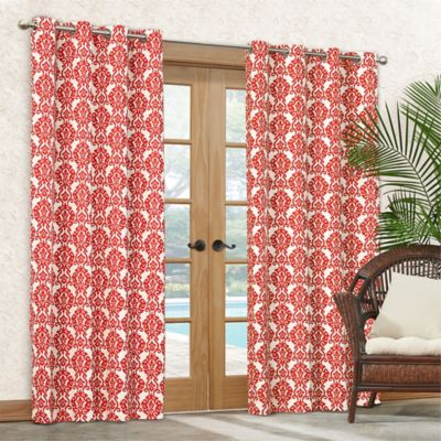 Waverly® Sun-n-Shade Luminary 84-Inch Grommet Top Indoor/Outdoor Curtain Panel in Peach