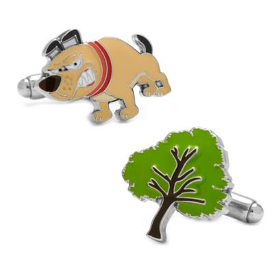 Silver-Plated Barking Up the Wrong Tree Cufflinks