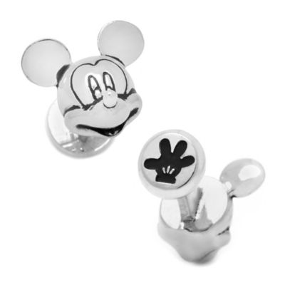 Disney® Silver-Plated 3D Mickey Mouse Cufflinks